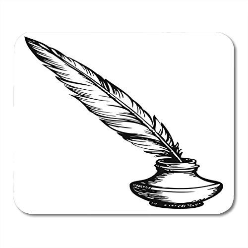 Preisvergleich Produktbild Mauspads Gänsefeder in eleganten altmodischen Tintenfass White Space Mauspad für Notebooks,  Desktop-Computer Matten Büromaterial