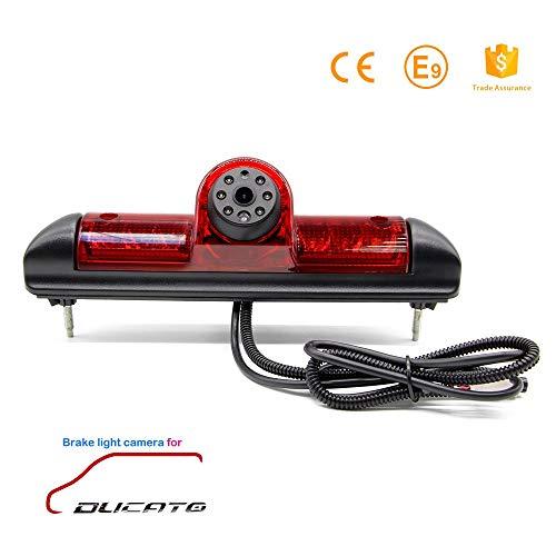 Rückfahrkamera Transporter Kamera an 3. Bremsleuchte Dachkante Einparkhilfe (NTSC) für FIAT Ducato Citroen Relay Citroen Jumper Peugeot Boxer 2005+