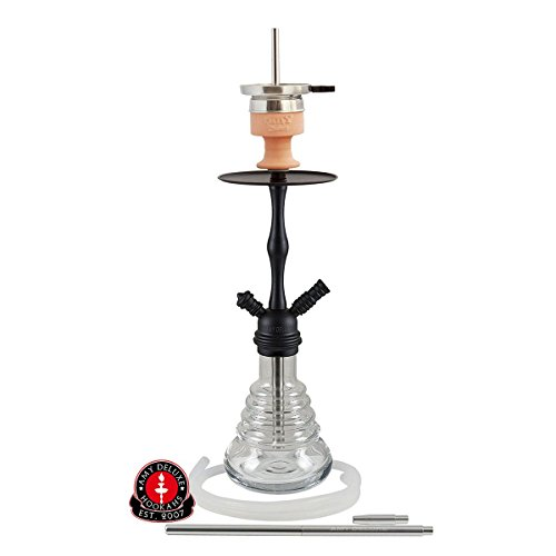 AMY Stillness Klick II D - clear - RS black powder | Shisha Wasserpfeife Hookah
