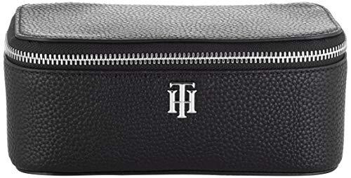 Tommy Hilfiger TH Essence Vanity Case, Productos de cuero pequeños para Mujer, Negro, One Size