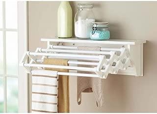 Better Homes & Gardens Wall-Mounted Drying Rack, White Black