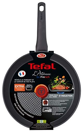 Tefal Artisane G1070602 - Sarten de 28cm Compatible con Todo Tipo cocinas; a Gas, Placa eléctrica, vitrocerámica e inducción, óptima retención del Calor y un diseño sólido y Duradero