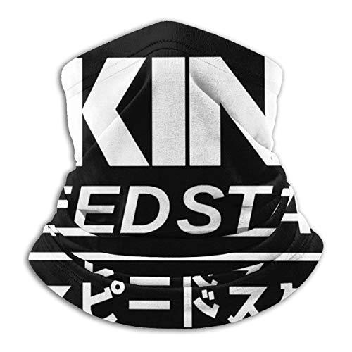 KNJF Akina Speed Stars - Pañuelo para cuello con inicial D, protección solar UV, pasamontañas reutilizable para motocicleta para hombres o mujeres