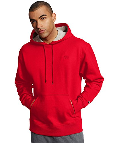 Champion Powerblend Blend Pullover Hoodie Team Red X-Large