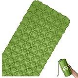 RedValley - Colchoneta Aislante Hinchable de 195 cm, Ultraligera, cómoda y Ideal para Camping, Verde
