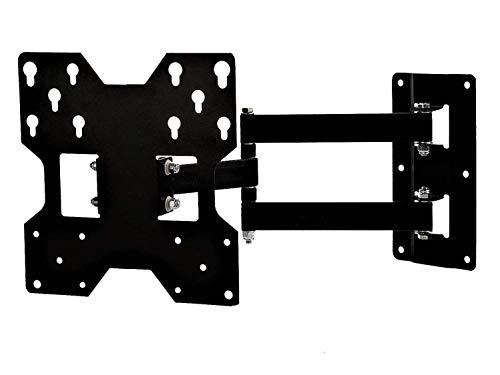 Rissachi Super Heavy Duty TV Wall Mount Bracket for 23 to 42 inch LED/4K/Smart TV, Full Motion Swivel Stand (Black-R455)