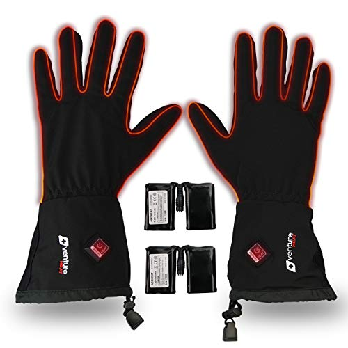 Venture Heat Heated Gloves for Men Women - Premium Battery Powered Glove Liner, Cycling Ski Snow Winter, Avert 2.0 (XXL)