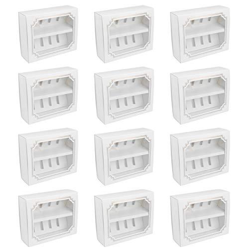 Hemoton 12Pcs Cajas de Panadería Blancas Cajas de Macaron Cajas de Regalo de Cartón de Papel con Ventana