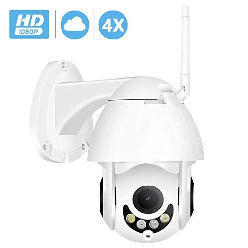 1080P Überwachungskamera IP66 WiFi IP-Kamera im Freien mit Anweisungen, Bewegungserkennung, maximal 40 m Nachtsicht, TF-Karten und kompatibel mit Smartphones, Tablets und Windows-P