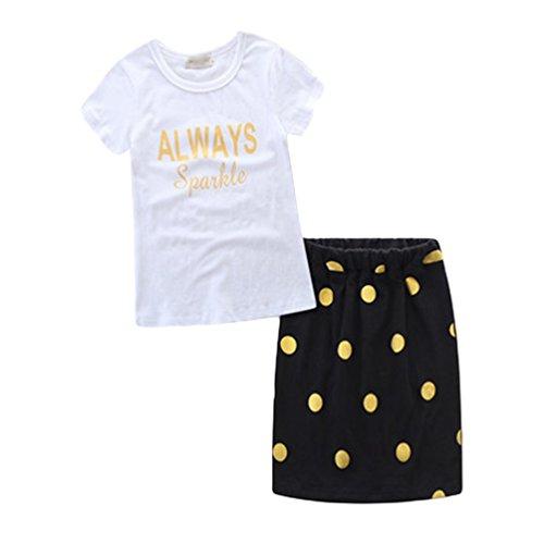 Linnuo Vestido Madre e Hija Vestido Madre e Hija T- Shirt & Falda Lunares Impreso Mujeres Niña Familia Ropa