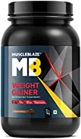 MuscleBlaze Weight Gainer with Added Digezyme (Chocolate, 1 kg / 2.2 lb, 10 Servings)