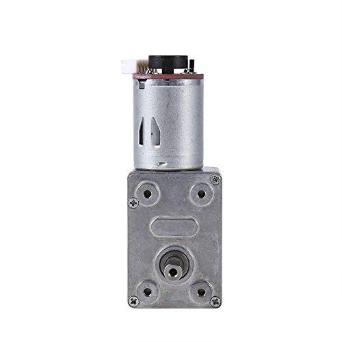 Motor de caja de engranajes de alto par DC 12V Motor de reducción de motor de tornillo sin fin de alto par con codificador Srong autoblocante para electrodomésticos(100RPM)