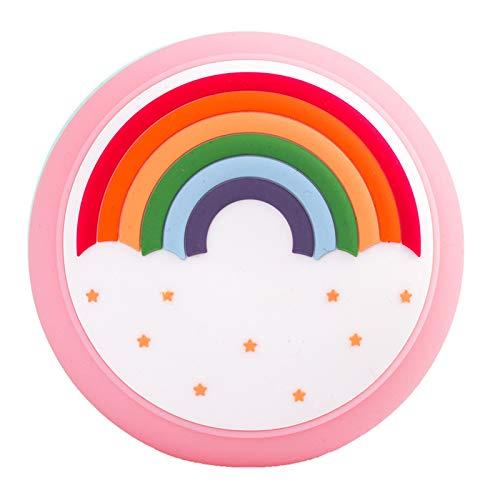 Eighty Luz de neón, LED arco iris en forma de señal de decoración, luz de silicona arcoíris con carga USB, luz de atmósfera de silicona de color caramelo