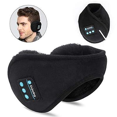 SKYEOL Bluetooth Earmuffs Headphones, Bluetooth 5.0 Wireless HD Stereo Music Ear Warmer, Foldable wool warmer with Mic Built-in Stereo Speakers for Winter Outdoor Men Women & Kids from SKYEOL