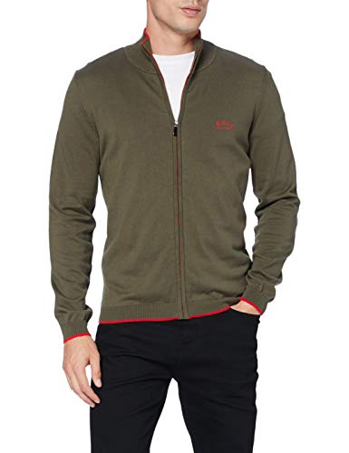BOSS Mens Zoston_W20 Cardigan Sweater, Dark Green (305), L