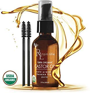 Organic Castor Oil for Hair Growth - Eyelash Growth Serum, Natural...