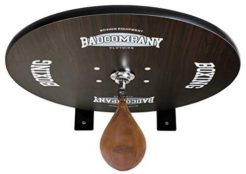 Bad Company Speedball Plattform mit Vintage Leder Boxbirne medium zur Wandmontage I BCA-40
