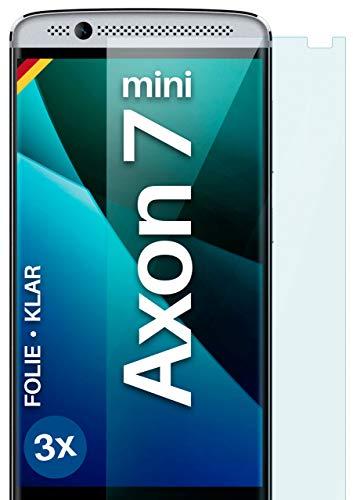 moex Klare Schutzfolie kompatibel mit ZTE Axon 7 Mini - Bildschirmfolie kristallklar, HD Bildschirmschutz, dünne Kratzfeste Folie, 3X Stück