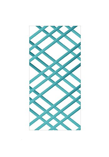 """Bulletin-Memo Board and Picture Frame: White and Turquoise (Slim (9"""" x 24""""))"""
