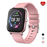 YoYoFit Newest 1.4' Full Touch Screen Smart Watch Heart Rate Blood Pressure Sleep Monitor Fitness Activity Tracker Watch, Waterproof Fitness Smartwatch Compatible with iOS Android for Women Men
