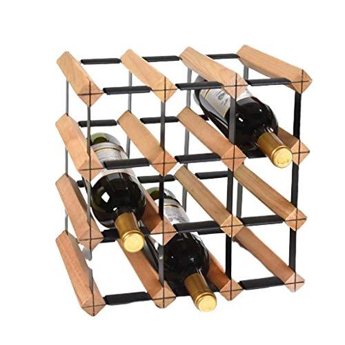 Botelleros Botellero vino Estante del vino tradicional soportes for botellas de vino de madera creativa práctica pantalla de la sala de estar decorativo gabinete almacenaje del vino Bastidores - Sopor