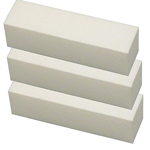 GS-Nails 10 Nagel Buffer Weiß Profi-Schleifblock Maniküre