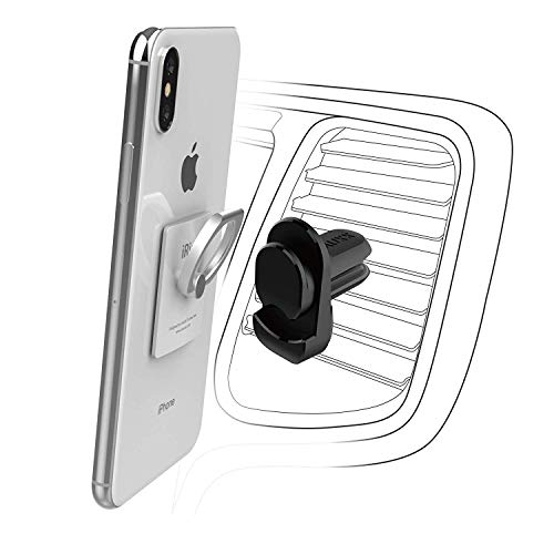 iRing Air Vent Car Mount Only. Compatible with AAUXX iRing Original, iRing Link and iRing Pocket. Cell Phone Holder Mobile Accessory for Car Air Vent Cradle and Mount.