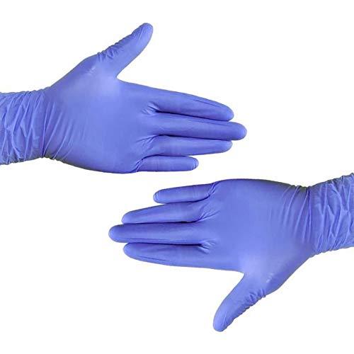 Nitril Handpflege, Einweg Lila, Puderfrei Und Latexfrei, Antiallergisch, Verschleißfest, Geeignet Für Familie, Outdoor, Arbeit (50 STÜCKE) M/Kobaltblau langlebiger Typ 100