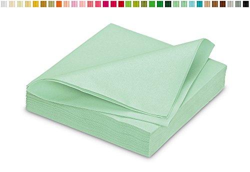 25 stoffähnliche Servietten 40x40cm in Premium Qualität ( mintgrün / mint 513 ) // saugstark perfekt für Hochzeit Party Geburtstag