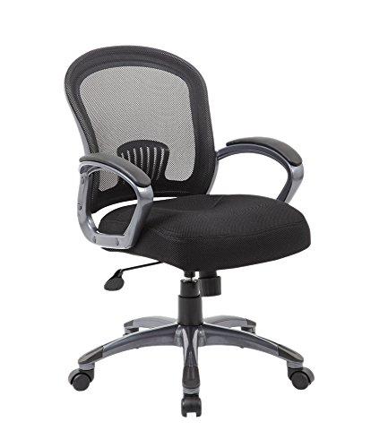 Boss Office Products (BOSXK) Mid Back Ergonomic Task Chair, Black