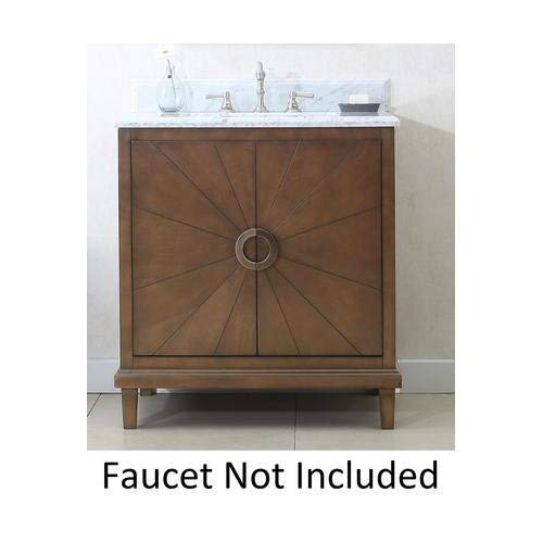 Legion Furniture WLF7040-30-CW 30' ANTIQUE COFFEE SINK VANITY WITH WLF7040-31 TOP, NO FAUCET
