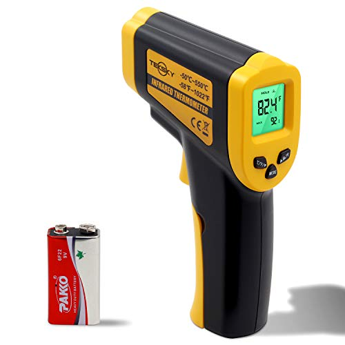 TekSky IT380 Infrared Non-Contact Thermometer, -50°C~550°C (-58°F~1022°F) Built-in Laser Battery Powered - CE & RoHs Approved