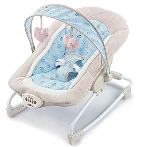 AQUYY Rocker Baby, Babies Electric Appease Rocking Chair Bouncers, Infant Leisure Chair with Music,Suitable from 0-6 Months
