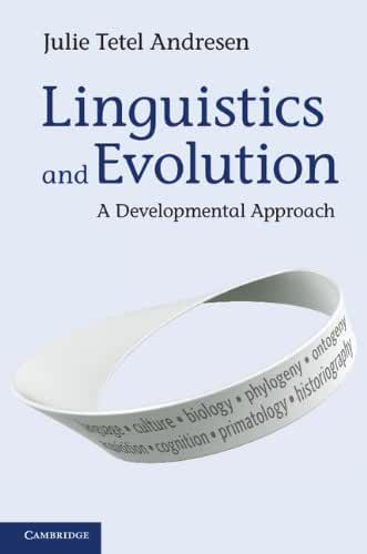 Linguistics and Evolution: A Developmental Approach (English Edition)