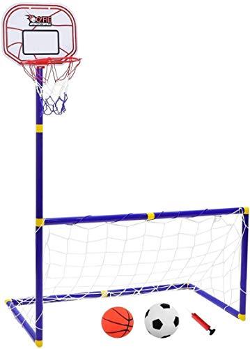 CYFIE Basketball Ständer Spielzeug Höhenverstellbar Basketballkorb Tragbare mit Pumpe für Kinder Indoor- und Outdoor Aktivitäten