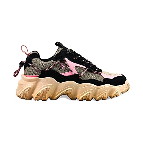 elis ElisComfort Sneaker, Zapatillas Mujer (Rosa Beige, Numeric_36)