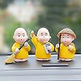 Garden Basket Swatch Bharat Monk Set 3PCS for CAR Interior Accessories Home Ornaments Crafts Decoration