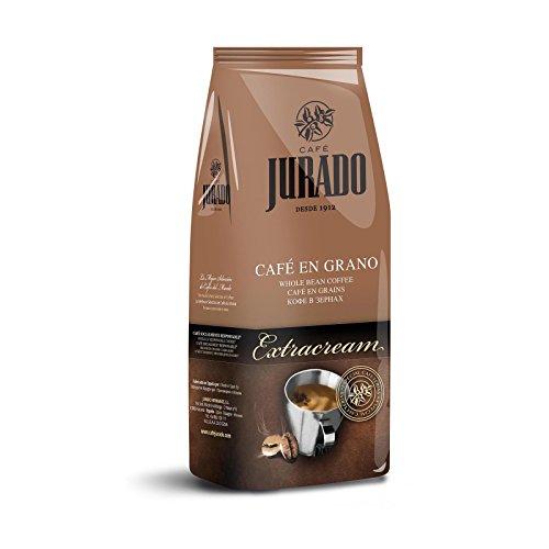Cafe Jurado - 1kg Kaffeebohnen Spanischer Kaffee Crema Extra Cream Natural