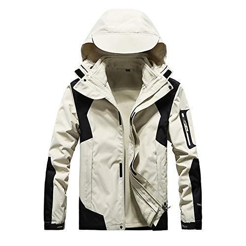 YSZDM outdoor Travel winddichte waterdichte jas voor mannen en vrouwen drie-in-één fleece afneembare bergbeklimmen pak