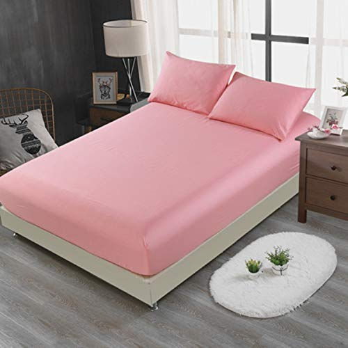 BOLO Sábanas, 100% sábanas de algodón de fibras largas, sábanas de satén de lujo (sábanas 100% algodón extra profundas), sábana bajera elástica, 180x220cm+25cm