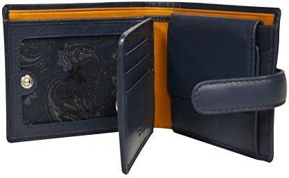 Visconti Parma PM-102 Mens Classic Bi-fold ID Wallet/Coin Pouch