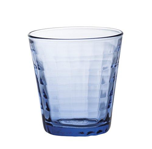 Duralex 22 cl Prisme Marine Glas, 4 Stück, blau