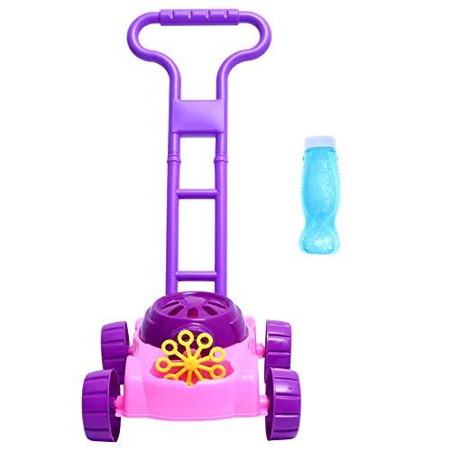 PRETYZOOM Máquina de Burbujas Niños Cortadora de Burbujas Automática con Luz Bebé Actividad Andador para Niños en Edad Preescolar Niñas