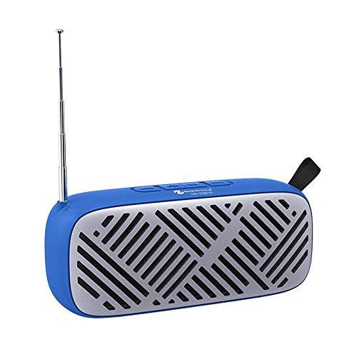 XIXV Bluetooth Inalámbrico Estéreo FM Inalámbrico Mini Portátil Portátil Outdoor Orotund Volumen de Teléfono Subwoofer Estéreo Pequeño Boombox (Color : Blue, Size : 19 * 8 * 6cm)