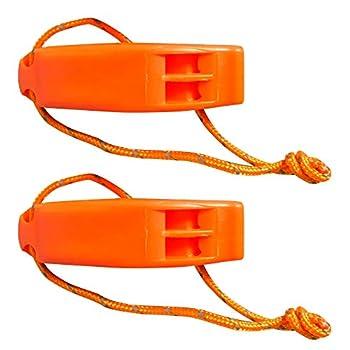 Xedmark 2 Sifflets, Signal, Survie, Urgence de Sécurité, Plastique Orange, avec Couverture d'urgence