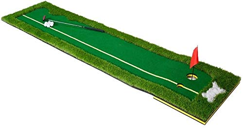 ZHEYANG Cubierta Al Aire Libre Profesional Portátil Ideal For Interior Al Aire Libre Campo De Golf Trainer Poner Mat (Color : Green)