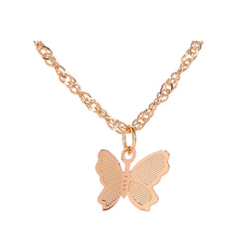 Danbai Flying Butterfly Clavicle Chain Three Dimensional Real Excellent Novel Style Necklace For Woman