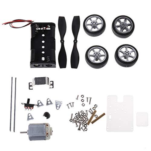 Buwei 130 Bürstenmotor Mini Wind Lernspielzeug DIY Auto Motor Roboter Kits für Arduino