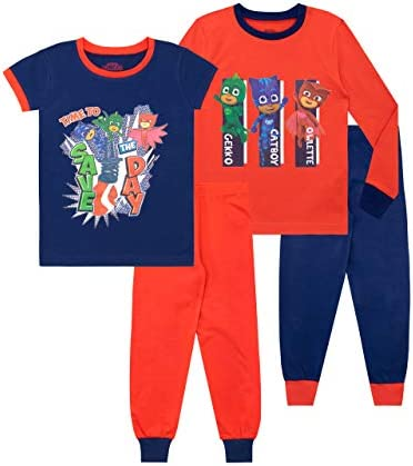 PJ Masks Boys Catboy Gekko Owlette Pajamas Pack of 2 Multicolored Size 5 product image