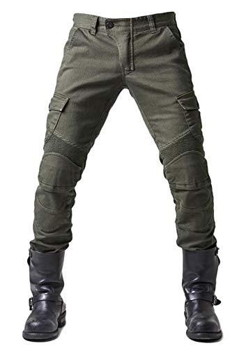 WildBee Strada Motociclo Da Corsa Pantaloni Fuori Strada Equitazione Jeans con Cuscinetti Protettivi Rimovibili